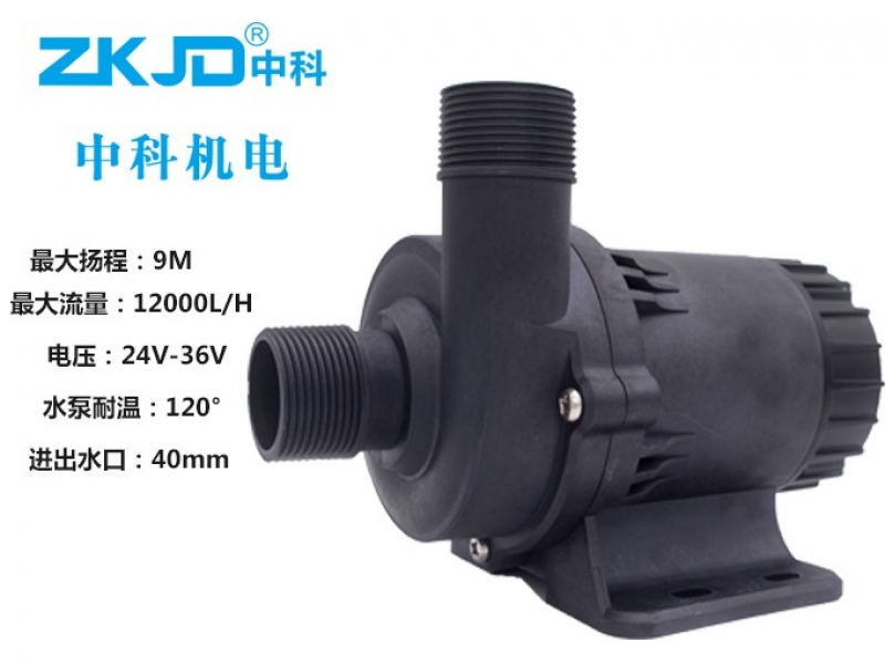 DC85E水泵扬程9米流量12000L每小时功率200W